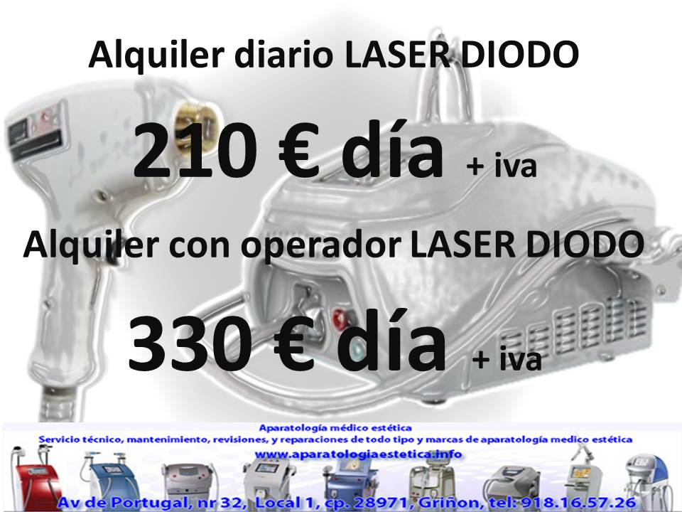 Alquiler diario LASER DIODO