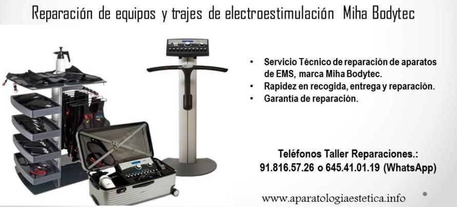 reparación equipos EMS Miha BodyTec