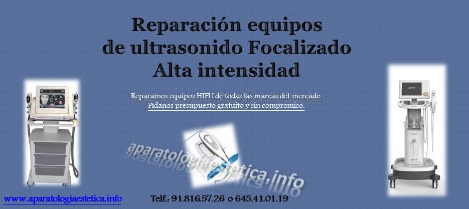 reparación equipos hifu