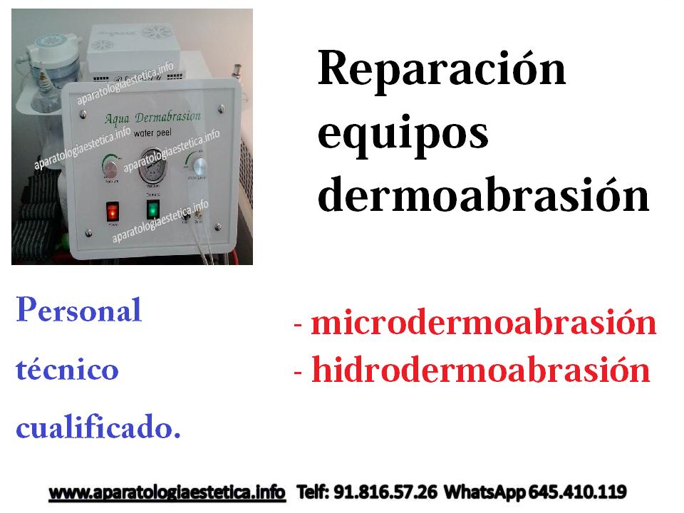 reparación microdermoabrasión - hidrodermoabrasión